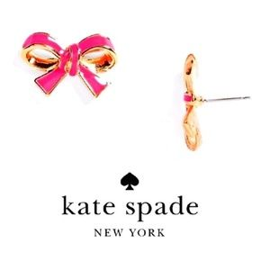NWT Kate Spade Finishing Touch Bow Earrings Pink